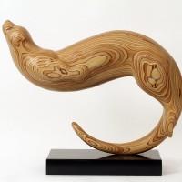 Swimming Otter Sculpture