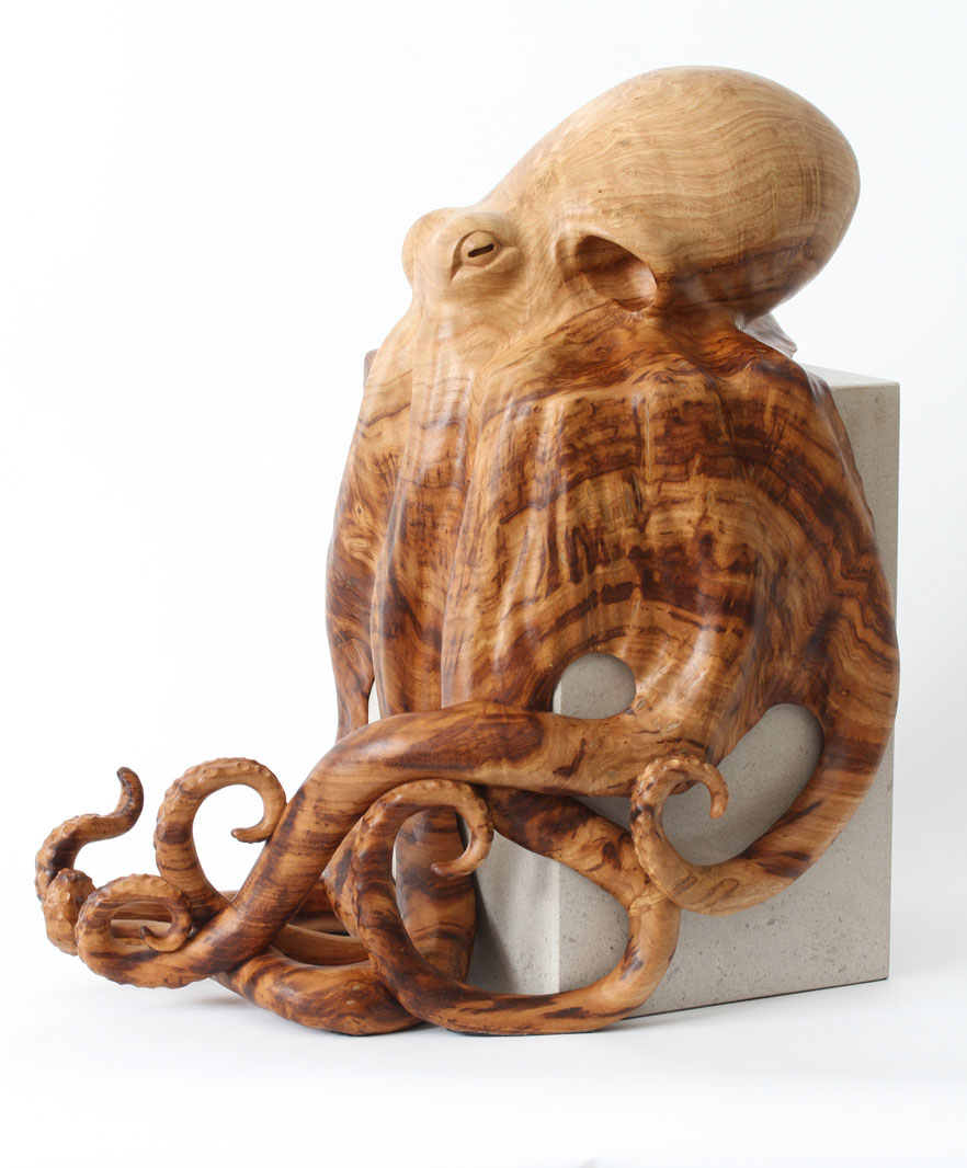 Octopus sculpture by wildlife artist bill prickett