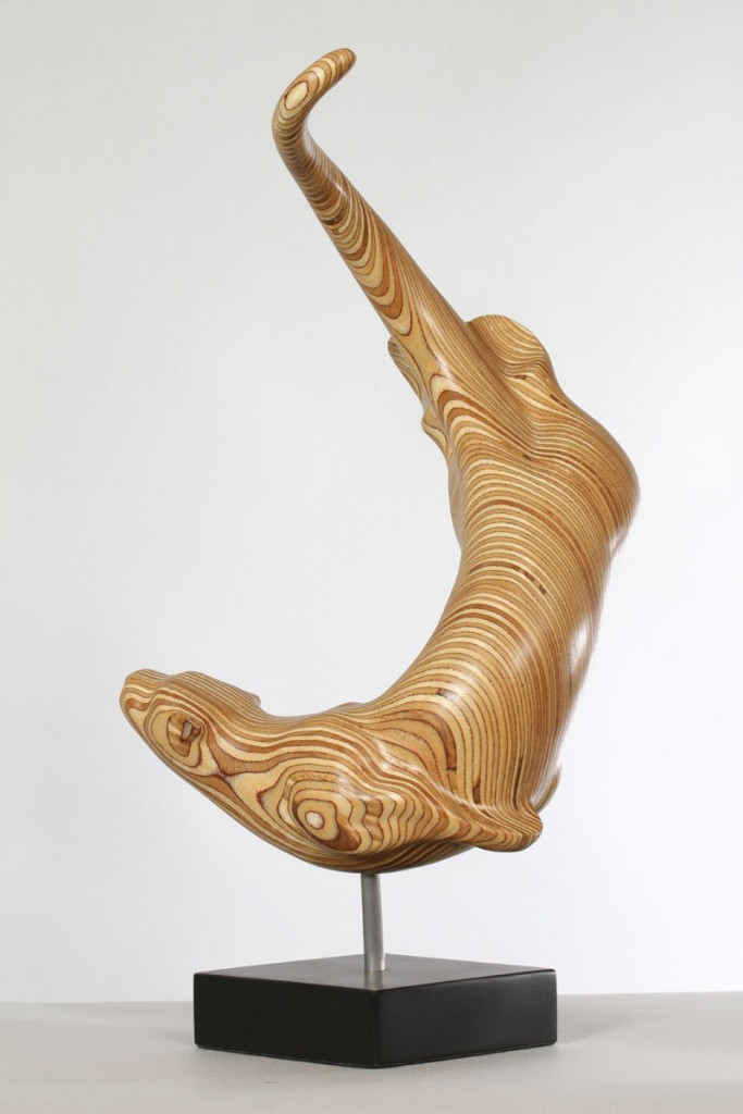 Otter Sculpture, plywood