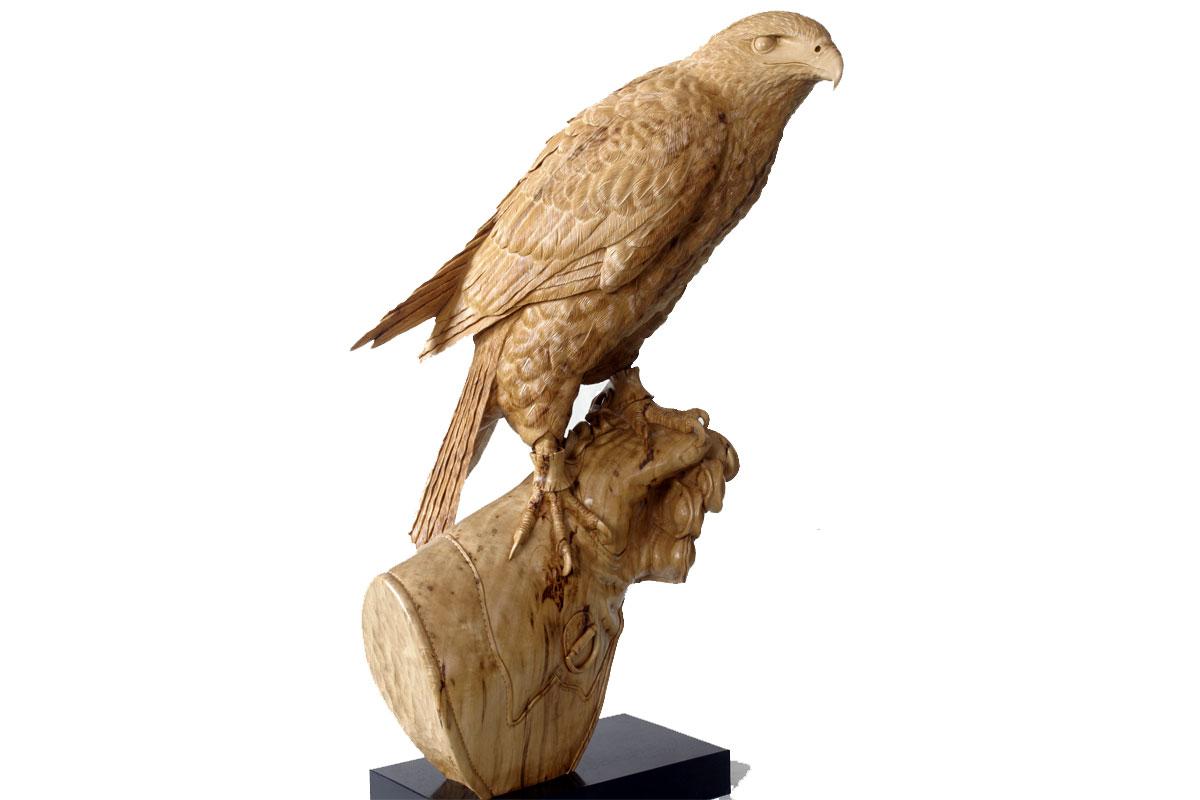 Harris's Hawk Sculpture