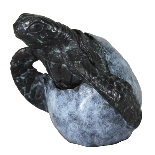 Hatching Turtle Bronze