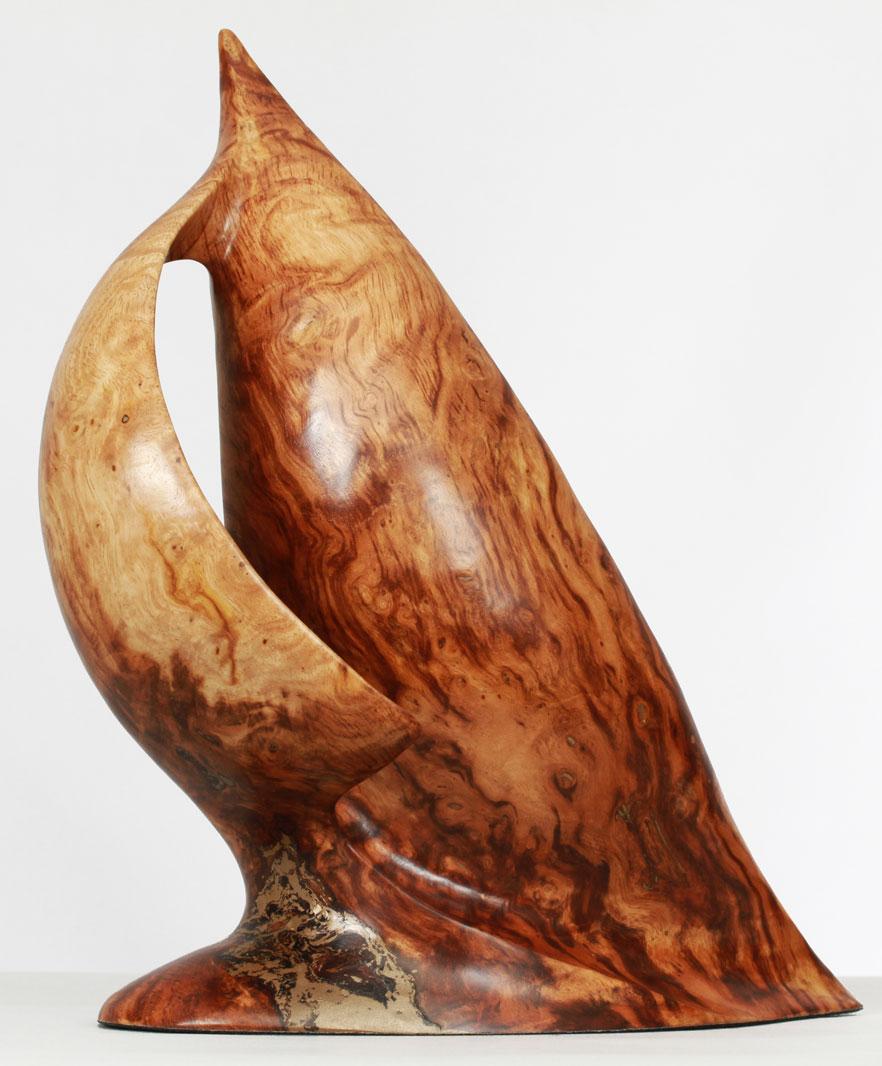 Bermuda sloop hand carved marine sculpture by bill prickett