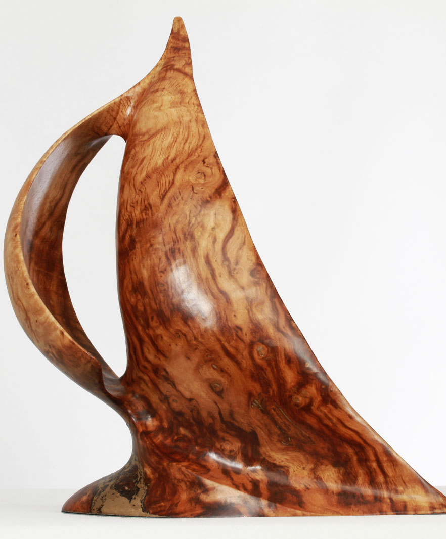 Sail Sculpture In Burr