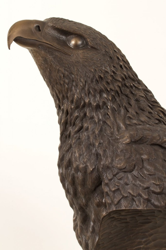 Eagle Sculpture, Bronze Resin