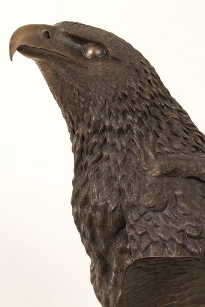 Eagle Sculpture, Bronze Resin