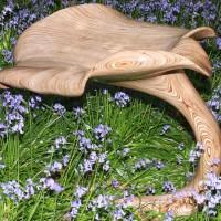 Leaf Sculpture In Plywood