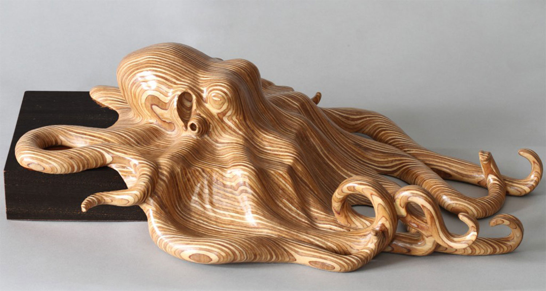 Octopus sculpture by wildlife artist bill prickett