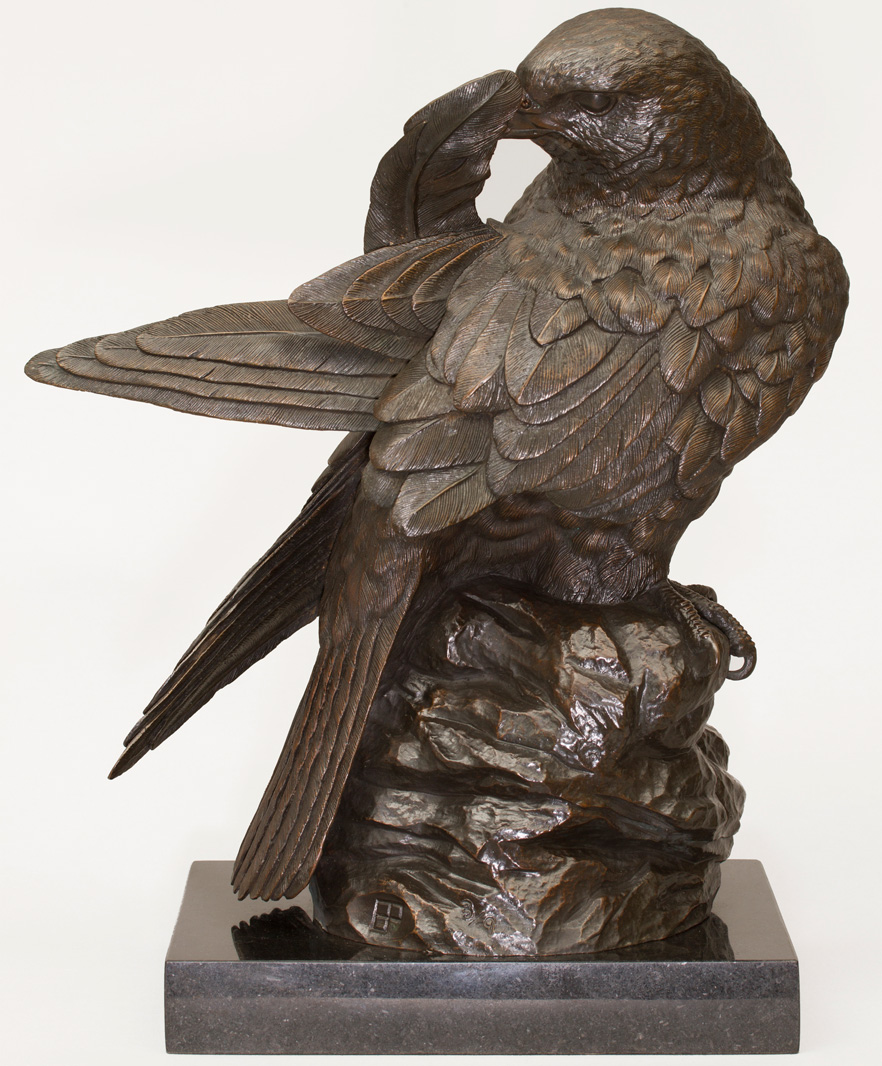 Falcon Sculpture In Bronze