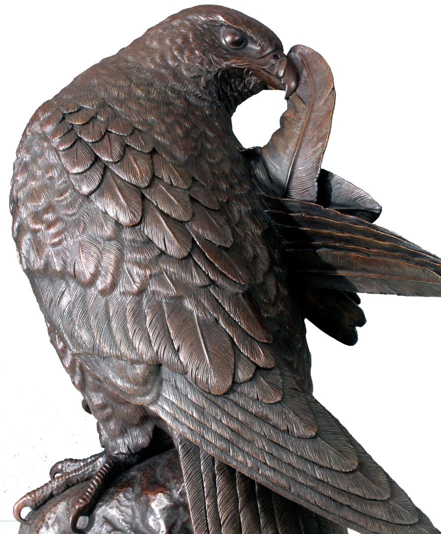 Falcon Sculpture In Bronze