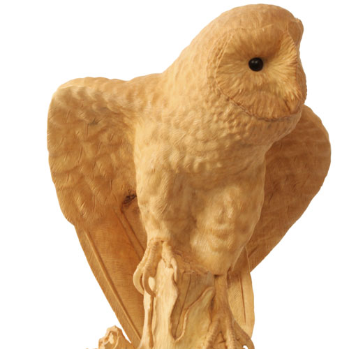 Barn Owl In Lime Wood