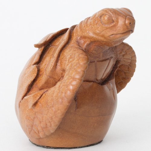 Hatching Turtle Carving