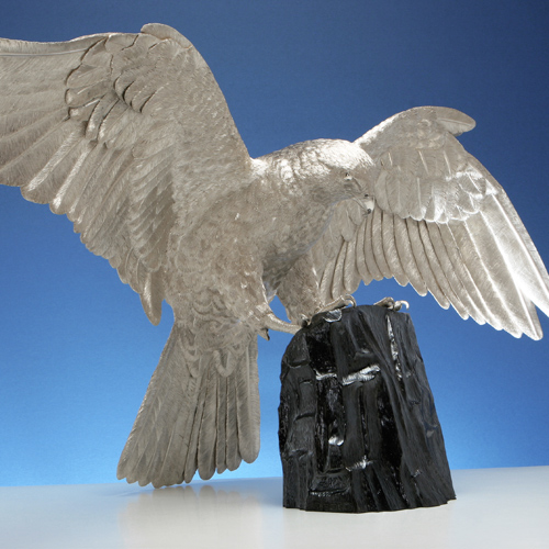 Silver Saker Falcon – Similar Can Be Commissioned