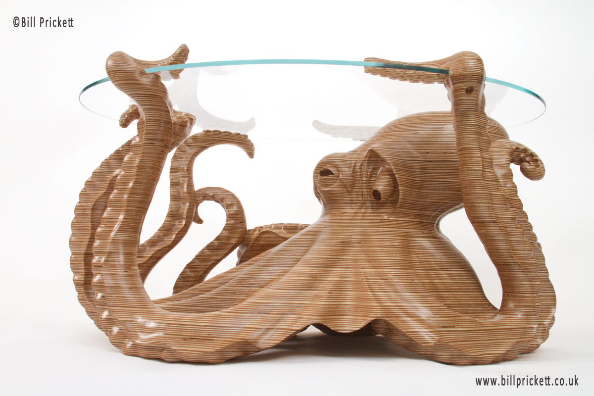 Octopus Table Hand Carved Octopus Coffee Table By