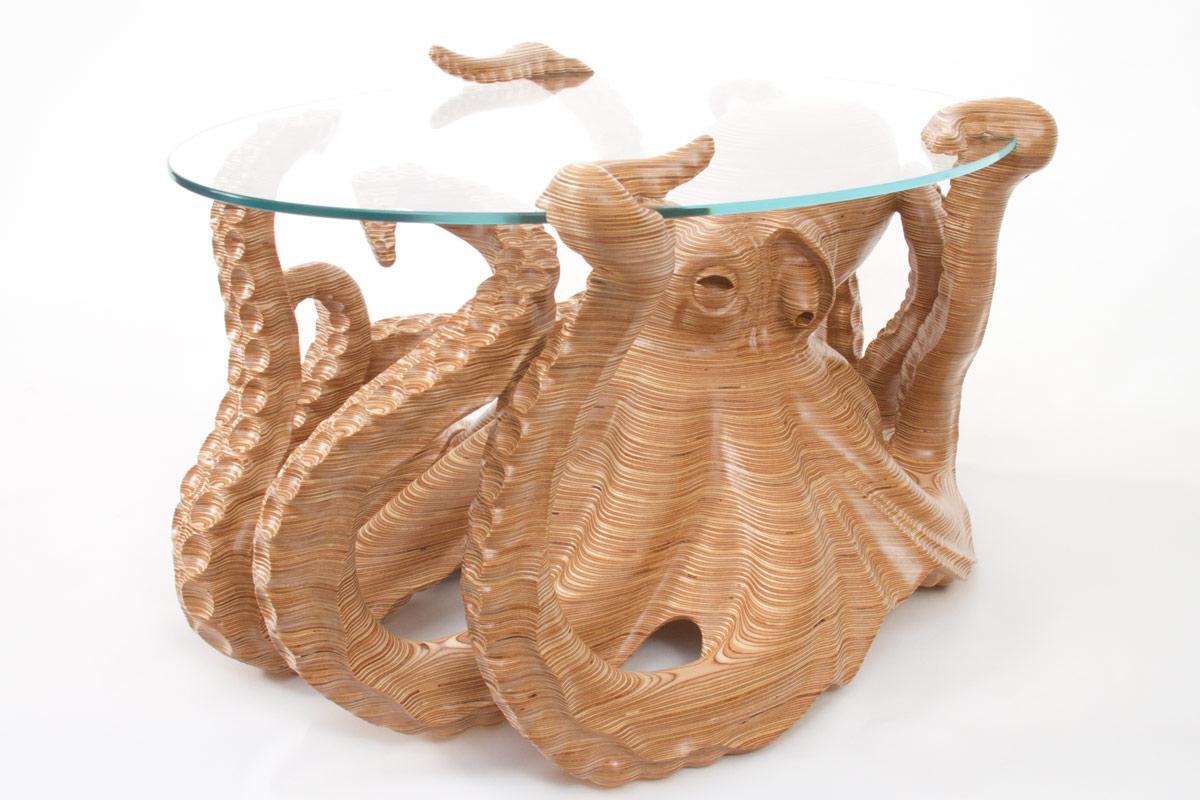 Octable The Octopus Coffee Table By Wildlife Artist Bill Prickett