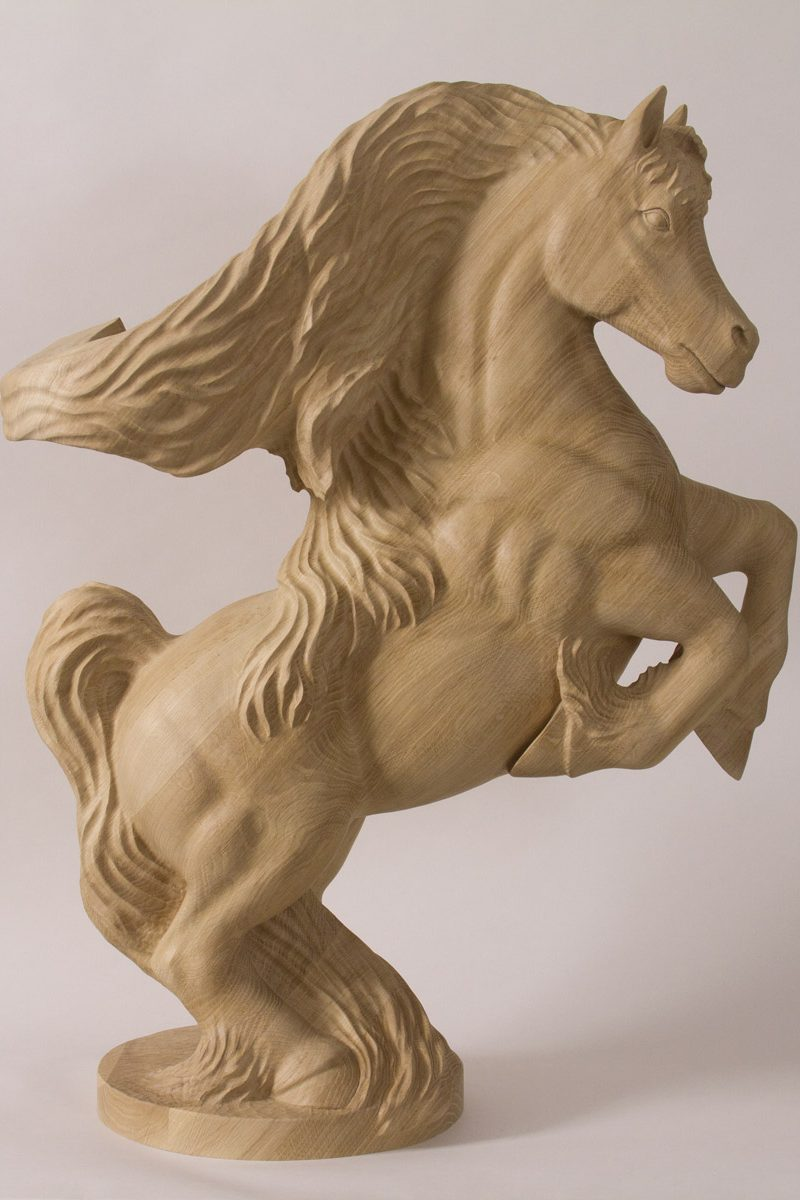 Horse Newel Post